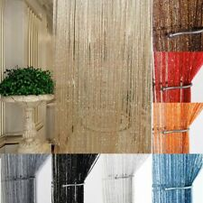 US Glitter String Door Curtain Beads Room Dividers Beaded Fringe Window Panel