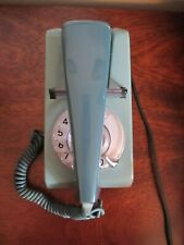 Vintage GPO Two Toned Blue Dial Telephone 1970's with Wall Socket