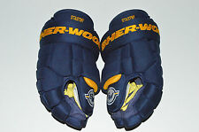 """PAUL STASTNY SHER-WOOD 14"""" BPM-120 PRO-STOCK GLOVES 2016 St Louis Blues Yellow"""
