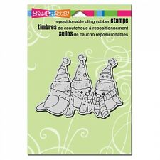 STAMPENDOUS RUBBER STAMPS CLING BIRDIE TRIO STAMP