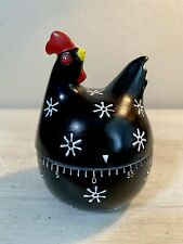 Vintage Chicken Hen Rooster 1 Hr Clock Egg Timer Kitchen Cooking Countdown Alarm