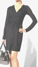 "$198 BCBG BLACK ""AML6G621"" WOOL WRAP SWEATER DRESS NWT  S"