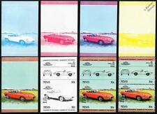 1967 JAGUAR E-Type 4.2L Car Stamps (1984 Nevis Progressive Proofs / Auto 100)