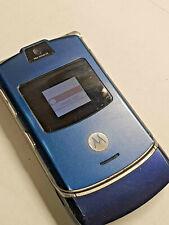 Motorola V3 Phone RAZR ATT Cingular ALLTEL Flip Style SMS EMAIL WIFI GPRS BLUE