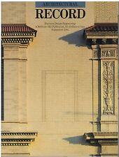 rivista - THE ARCHITECTURAL RECORD ANNO 1985 SETTEMBRE