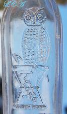 SCARCE to RARE miniature OWL DRUG Whiskey Top bottle w/ pic owl