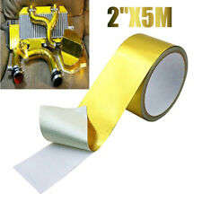 16ft Gold Fiberglass Wrap Barrier Tape Heat Shield Roll Exhaust Car Protection