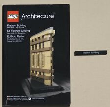 REDUCED INSTRUCTIONS & Name Tile ONLY Lego FLATIRON BUILDING New York