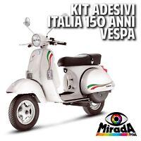 ADESIVI STICKERS VESPA ITALIA 150 ANNI PX MODELS 125/150/200 TRICOLORE PIAGGIO