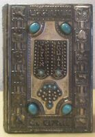 1967 Vintage JEWISH BIBLE PRAYER BOOK siddur HEBREW ENGLISH metal Turquoise