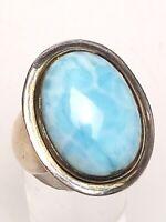 """Larimar - 925 Sterling Silber Ring von """"Mr. T."""" punziert - RG 58/18,5 mm A 954"""