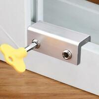 Adjust Sliding Door Window Safety Lock Security Slide Stopper Lock Kids Child