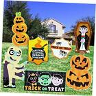 Halloween Outdoor Decorations, Corrugate Yard Stake Signs for Lawn Yard Prop