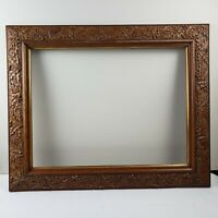 Antique Victorian Golden OAK WOOD GESSO Compo Molding Large Frame 16 x 21 fit