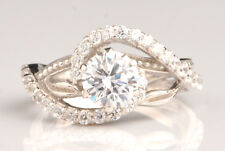 Real 14KT White Gold 3.30 Carat Gorgeous Round Shape Women's Engagement Ring