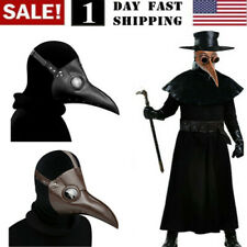 Plague Doctor Mask Birds Mouth Long Nose Beak Faux Latex Steampunk Halloween 🔥