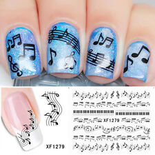 Nail Art  Artistic Music Note Water Transfers Tattoo Decals Stickers Decorations