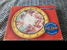 VINTAGE WADDINGTON'S CIRCULAR JIGSAW 500+ PIECES 1950's, Fishing Scenes, 20""