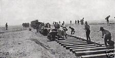 "Australian Army Laying Railway Line Sinai Egypt World War 1 6x3"" Reprint Photo 2"