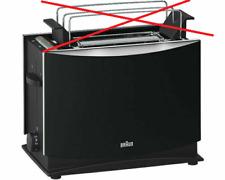 BRAUN HT 450 Toaster 2 Scheiben Toast 1000 Watt Schwarz ohne Brötchenaufsatz