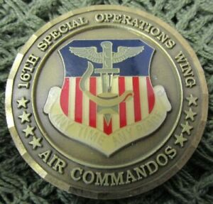 USAF 16TH SPECIAL OPERATIONS WING CHIEF MASTER SERGEANT CHALLENGE COIN #4.
