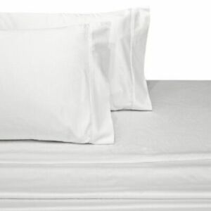 1 Flat Sheet + 2 Pillow Case 1000 TC Egyptian Cotton All Size White Solid