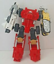 Power Rangers Operation Overdrive TransMax Vehicles to Megazord Red Yellow White