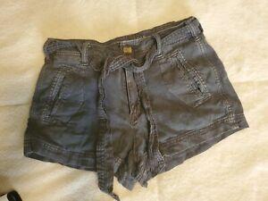 American Eagle Black Linen Shorts Size 2