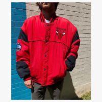 Vintage 90s Chicago Bulls Bomber Style Puffer Jacket