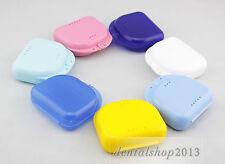 10PCS Dental Denture Storage Box Orthodontic Retainer Mouthguard Container Case