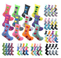 12 Pairs Women Light Weight Breathable Colorful Dress Socks Cotton Crew Socks
