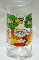 Vintage McDonald's Glass Camp Snoopy Peanuts 1965 Woodstock Snoopy Charlie Brown
