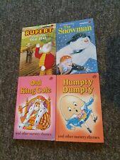 4 Ladybird books Nursery rhymes Rupert Snowman