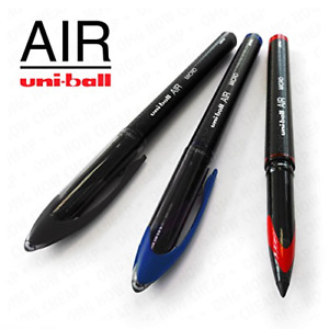 Uni-Ball AIR Micro - 0.5mm Fine Rollerball - Pack of 3 - Black, Blue, and Red -