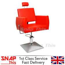 Salon Barber Red Chair Hairdressing Threading Shaving Barbers Styling Beauty NEW