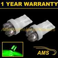 2X W5W T10 501 XENON GREEN 7 DOME LED SIDELIGHT SIDE LIGHT BULBS HID SL100406
