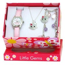 Ravel Little Gems Kids Kitten Watch & Jewellery Gift Set for Girls R2212