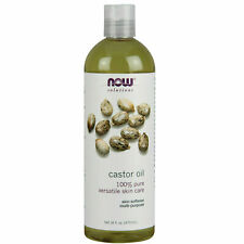 NOW FOODS 100% Pure Castor Oil 16 oz, Versatile Skin Care, Best By: 04/2020