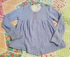 Matilda Jane Cardigan Size 10 floral sweater flowers blue school Fall clothes