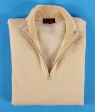 $865 LORO PIANA 100% CASHMERE Roadster Pull Sweater - Pale Yellow - 58 2XL