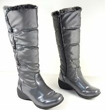 size 7 Khombu Flurry Gray Tall Waterproof Winter Cold Weather Boots Shoes