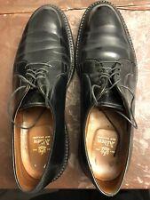 Alden 9901 Shell Cordovan Plain Toe Blucher Black Shoes Size 10.5 B/D