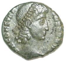 ROMAN BRONZE COIN AE4 FOLLIS CONSTANTIUS VOT XX MVLT XXX