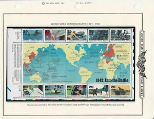 United States Souvenir Sheet #2697, World at War, 1942, MNHOG, XF