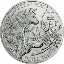 Slowakei 20 Euro 2010 stgl. Poloniny Nationalpark - Wolf Silber St.
