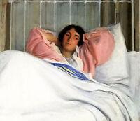 Oil painting joseph rodefer de camp - portrait of the artists wife edity canvas