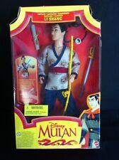 Disney Mulan Li Shang Captain Doll 1997 Mattel New In Box