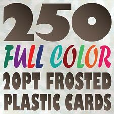 250 Full Color Custom 20pt FROSTED PLASTIC BUSINESS CARD Printing Round Corners