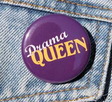 """DRAMA QUEEN - Novelty Button Pin Badge 1.5"""""""