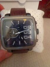 Diesel Brown Leather Square Franchise Chronograph Men's Watch - DZ4302
